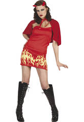 Disfraz Demonia Llamas mujer Talla XL