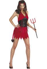 Déguisement Démon Sexy Femme Rouge taille XL