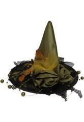 Sombrero bruja verde mini