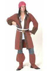 Kostüm Pirat der Karibik Lange Jacke Mann