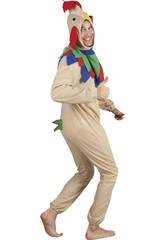 Disfraz Gallo Marrón Hombre Talla L
