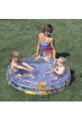 Pool 3 tubos oceano 102x25 cm. Bestway 51008B