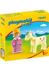 Playmobil 1,2,3 Princesa con Unicornio Playmobil 70127