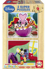 Puzzle 2X9 Mickey Mouse Club House Educa 13467