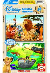 Puzzle 2 x 50 Animaux Friends Educa 13144