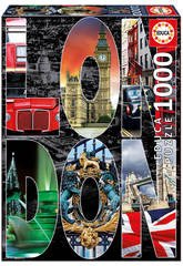 Puzzle 1000 Collage von London Educa 16786