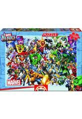 Quebra-cabeça 1000 Os Heróis Da Marvel Educa 15193